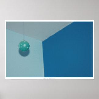 Abrégé sur turquoise brillant boule posters