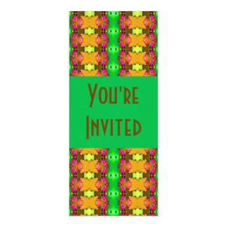 abrégé sur vert jaune carton d'invitation  10,16 cm x 23,49 cm