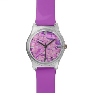 Abrégé sur violet région boisée, lavande, mauve, montres bracelet