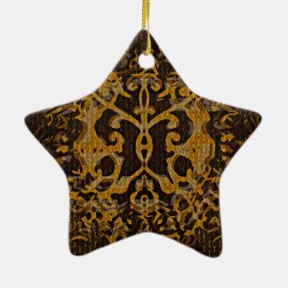 Abri abstrait et illustré ornement étoile en céramique