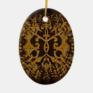 Abri abstrait et illustré ornement ovale en céramique