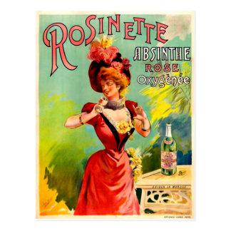 Absinthe Oxygénée rose de Rosinette Cartes Postales