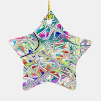 abstract1 ornement étoile en céramique