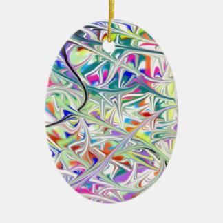 abstract1 ornement ovale en céramique