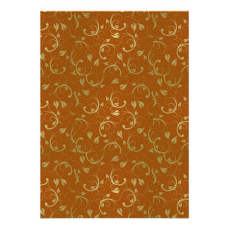 Abstract-Floral-Pattern1 ROUILLE D'OR ABSTRAITE FL Invitations Personnalisées