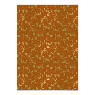 Abstract-Floral-Pattern1 ROUILLE D'OR ABSTRAITE Invitations Personnalisées
