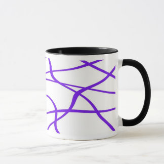 Abstract lines - Mug - Coloris : Mauve