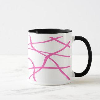 Abstract lines - Mug - Coloris : Rose