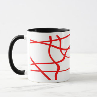 Abstract lines - Mug - Coloris : Rouge