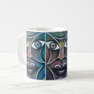 Abstracto de fondo de colorido de sobre de Rostro Mug