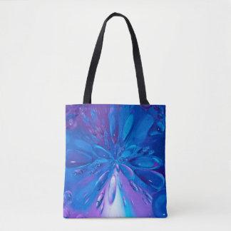 Abstrait l'eau bleue d'art laisse tomber l'arrière sac