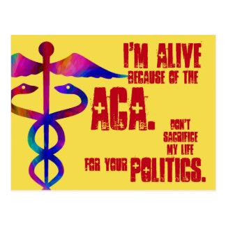 ACA ma vie votre carte postale de la politique