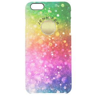 Accent coloré d'or de scintillement de Bokeh Coque iPhone 6 Plus