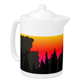 Accent de coucher du soleil de forêt de montagne
