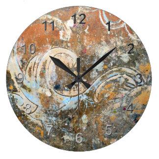 Accent décoratif grande horloge ronde
