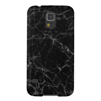Accents gris de marbre noirs élégants coque galaxy s5