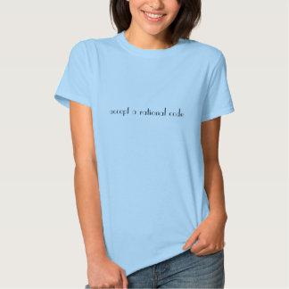 acceptez un code rationnel t-shirt