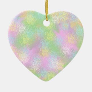 Accès mûrs de l'art numérique d'abrégé sur couleur ornement cœur en céramique