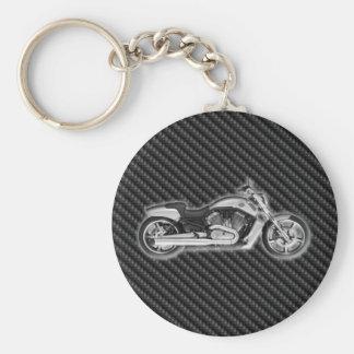 Accessoire de mode de la moto 3D de Harley de carb Porte-clé Rond
