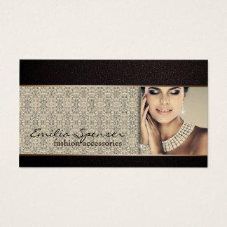 Accessoires de mode et carte de visite de bijoux