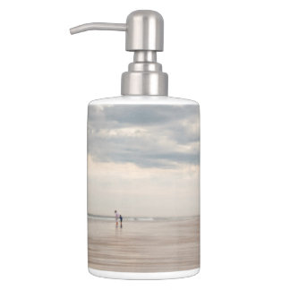 accessoires de salle de bains de paysage marin