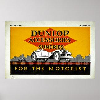 Accessoires et articles divers de Dunlop pour l'au Poster