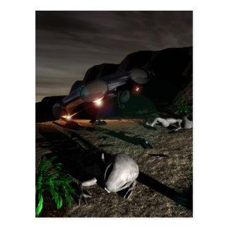 Accident d'UFO de Roswell à la carte postale de