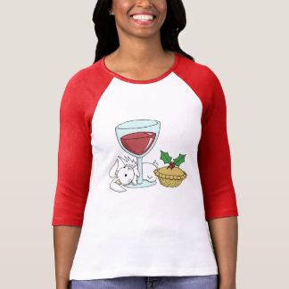 Acclamation de Noël avec un lapin de Flutterby T-shirt