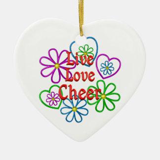 Acclamation vivante d'amour ornement cœur en céramique
