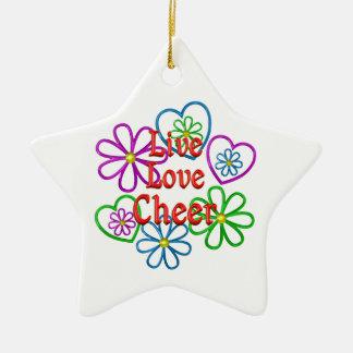 Acclamation vivante d'amour ornement étoile en céramique