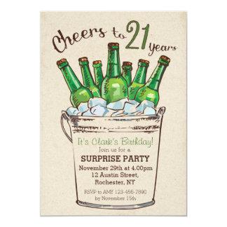 Acclamations à 21 ans d'invitation d'anniversaire carton d'invitation  12,7 cm x 17,78 cm
