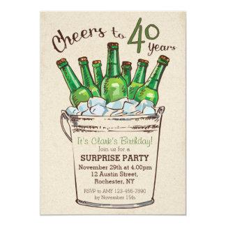 Acclamations à 40 ans d'invitation d'anniversaire carton d'invitation  12,7 cm x 17,78 cm