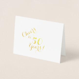 Acclamations à 50 ans de carte de note