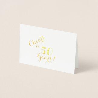Acclamations à 50 ans de mini carte