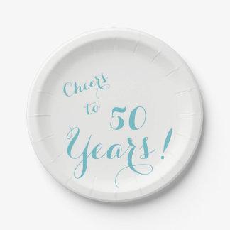 Acclamations à 50 ans de plaques à papier assiettes en papier