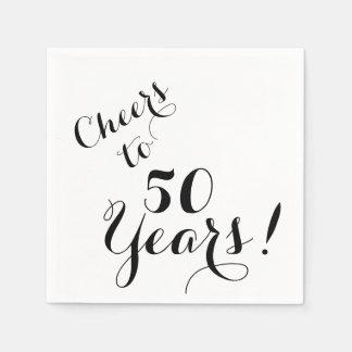 Acclamations à 50 ans de serviettes de papier serviettes jetables
