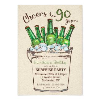 Acclamations à 90 ans d'invitation d'anniversaire carton d'invitation  12,7 cm x 17,78 cm
