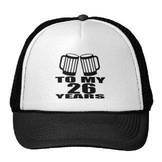 Acclamations à mes 26 années d'anniversaire casquette