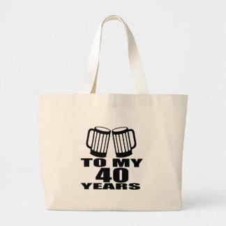 Acclamations à mes 40 années de conceptions grand sac