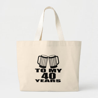 Acclamations à mes 40 années de conceptions grand tote bag
