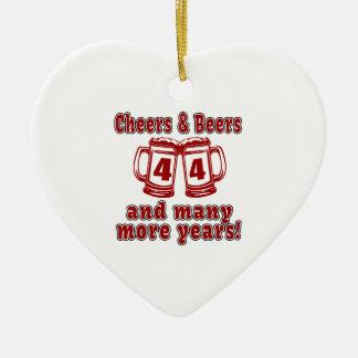 Acclamations et bières 44 ans ornement cœur en céramique