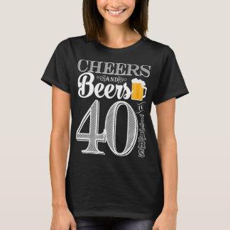 Acclamations et bières à 40 ans le T-shirt de base