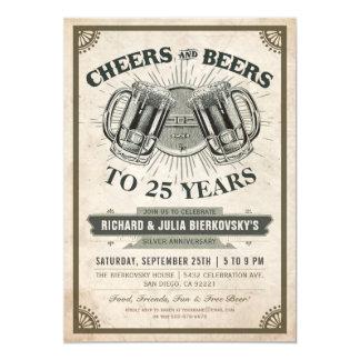 Acclamations et bières des invitations | de fête