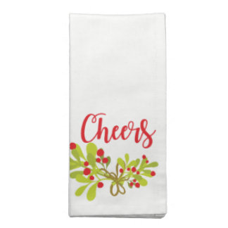 Acclamations et serviettes de tissu de fête de