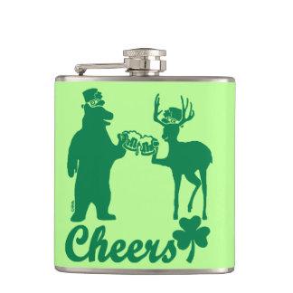Acclamations heureuses de Jour de la Saint Patrick Flasques