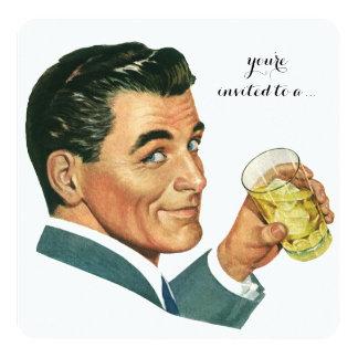 Acclamations vintages de cocktails de fête invitation personnalisée