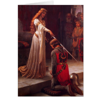 Accolade - le chevalier carte de vœux