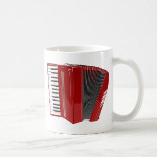 Accordéon rouge mug blanc