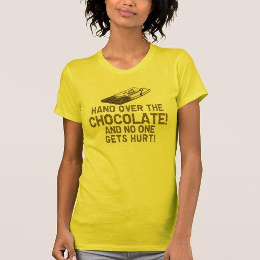Accro du chocolat de chocolat t-shirts