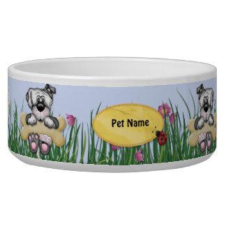 Accrocher autour des chiens - nom de personnaliser bol pour chien
